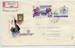 CZECHOSLOVAKIA 1979 Postal Stationery Envelope PHILASERDIVA 69 Used Registered  With Additional Stamps.  Michel U57 - Postal Stationery