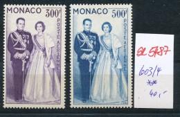 Monaco  Nr. 603-4   **( Se5487 ) Siehe Bild ! - Nuevos