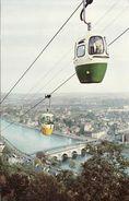 Postcard Namur Cable Car Lift Belgium 1960 Teleferique Et Vue Panoramique - Funicular Railway
