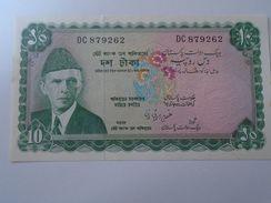 DEL001.7 Pakistan 10 Rupees Banknote (1972-75) Pick 21 XF - Pakistán