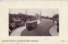 Vintage Tram Postcard Madeira Road Ramsgate Car 34 Kent Electric Tramway Tramcar - Tramways