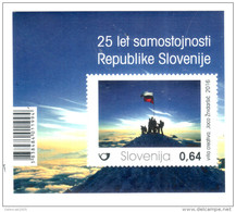 2079 Slowenien Slovenia Slovenie 2016 Mi.No. 1209 ** MNH Block 25th Ann. Of Slovenia's Independence Mountain Alps - Slowenien