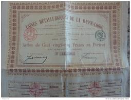 44 TRIGNAC USINES METALLURGIQUES DE LA BASSE LOIRE Action De 125 Francs Au Porteur GARFUENE - Industrie
