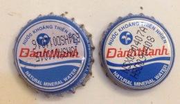 2 Vietnam Viet Nam Danh Thanh Natural Water Used Crown Cap / Kronkorken / Capsule / Chapa / Tappi - Soda