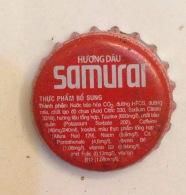 Cambodia Coca Cola Samurai Energy Drink Used Bottle Crown Cap / Kronkorken / Capsule / Chapa / Tappi - Casquettes