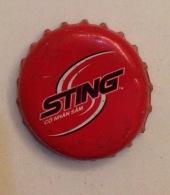Cambodia Coca Cola Sting Energy Drink Used Bottle Crown Cap / Kronkorken / Capsule / Chapa / Tappi - Caps