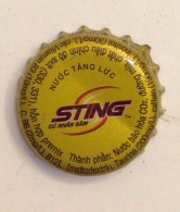 Cambodia Coca Cola Sting Energy Drink Used Bottle Crown Cap / Kronkorken / Capsule / Chapa / Tappi - Casquettes