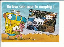 Bessé-sur-Braye - Camping Humour Sac à Dos Tente (Sarthe 72)  CP 68/37 - Autres Communes