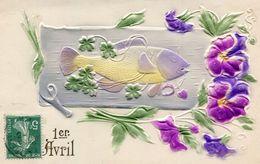POISSON D AVRIL(CARTE GAUFREE) - 1er Avril - Poisson D'avril