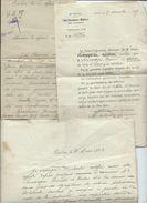 Lot Papiers - Centre De Reforme Bordeaux  Et Sous Intendance Militaire De Tarbes 1929 - Lettres De Change