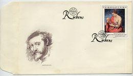 CZECHOSLOVAKIA 1977 Rubens Painting On  FDC.  Michel 2417 - FDC