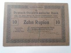 DEL001.11 German East Africa(Tanzania): P-38a,10 Rupien ,1915 F Deutsch Ostafrika - [12] Colonies & Banques étrangères
