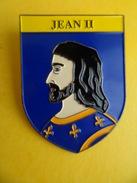 No Pins BROCHE Des ROIS Et REINES De France  JEAN II   - Ed. ATLAS - Personajes Célebres