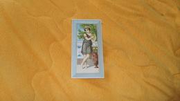 GRAND CHROMO OU IMAGE ANCIENNE DATE ?. 16CM X 8CM ./ FEMME MUSICIENNE. UNIFACE - Autres