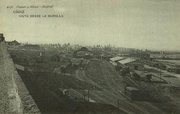 CADIZ. VISTA DESDE LA MURALLA. - HAUSER Y MENET 2076 - Cádiz