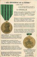 """MILITARIA  Médaille  """" Aux Défenseurs De La Patrie """" 1870.1871  2scans - Militaria"""