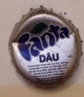 Vietnam Coca Cola Fanta Dau (Strawberry) Used Bottle Crown Cap / Kronkorken / Capsule / Chapa / Tappi - Caps