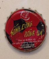 Vietnam Coca Cola Fanta Football World Cup Used Bottle Crown Cap / Kronkorken / Capsule / Chapa / Tappi - Caps