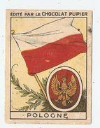CHROMO CHOCOLAT PUPIER POLOGNE DRAPEAU Et ARMOIRIES - POLSKI - 2 Scans - - Schokolade
