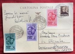 """INTERO POSTALE  MAZZINI 30 C.+ F.LLI BANDIERA  ANNULLO R.S.I. """" MINISTERO CULTURA POP. UFFICIO POSTALE"""" DEL  28/2/45 - 4. 1944-45 Repubblica Sociale"""