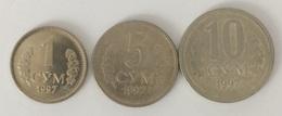 Ouzbékistan - 1 Sum 1997 - 5 Sum 1997 - 10 Sum 1997 - Uzbenisktán