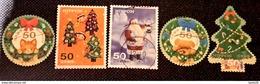 Japon 2011 5616 5620  Timbre Salutation Hiver  Pére Noel Sapin Couronne De Noel Photo Non Contractuelle - 1989-... Kaiser Akihito (Heisei Era)