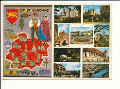 Lot Et Garonne Guyenne Confit Foie D'oie Pruneaux D'Agen Duras Barbaste Marmande Fumel Carte Géographique  CP 68/37 - Carte Geografiche