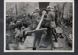 Photo 12 X 18 Cm, Section Cinematographique De L'armee, Piece D'artillerie Lourde Française En Action Sur Le Front - Guerre, Militaire