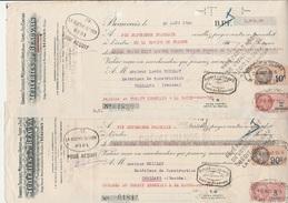 2 LETTRES DE CHANGE -  TUILERIES DE BEAUVAIS -  ANNEE 1935 - Cambiali