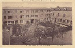 NANTES Pensionnat De L'immaculée Conception L'aile Droite Et Les Cours De Récréation  Circulée 1944 - Nantes