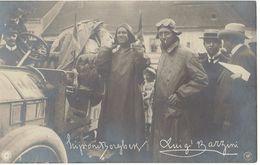 Course Automobile Paris/Pekin 1907,  Carte Photo Du Prince Scipione Borghhese Et Luigi Barzini - Rallyes