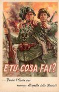 FASCISMO / R.S.I - CAMPAGNA DI PROPAGANDA - ID-25.RS.B - Militari