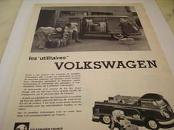 ANCIENNEAFFICHE  PUBLICITE COMBI UTILITAIRE  VOLKSWAGEN  1960 - Camions