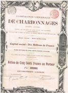 Action Ancienne - Compagnie Générale Des Charbonnages - Titre De 1900 - Mines