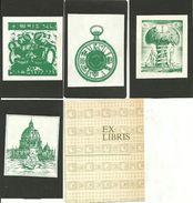 Ex Libris (Exlibris), N. 4 Exlibris (1 Di Palmirani Remo, 1 Di Margareth And Ralph Pulitzer, 2 Autori Illeggibili) - Ex Libris