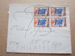 VEND TIMBRES DE SERVICE DE FRANCE N° 17 X 4 , SUR FACADE !!! - Lettres & Documents
