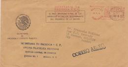 Lettre OFICINA FILATELICA MEXICANA Vers Esneux( Belgiul1978 - Poste Aérienne