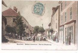 CPA 39 MOUCHARD MAISON COMMUNE RUE DE STRASBOURG GROSSE ANIMATION RARE BELLE CARTE !! - France