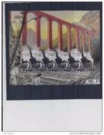 Belgie - Belgique 4445 Velletje Van 5 Postfris - Feuillet De 5 Timbres Neufs  -  De Wereld Van De Trein - F. Schuiten - Feuilles Complètes