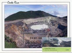 COSTA RICA (2013) - Carte Maximum Card - Volcan Poas / Poas Volcano National Park / Vulkan - San Pedro De Poas - Costa Rica