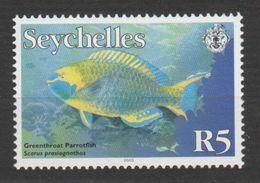 """SEYCHELLES ,N°869 """"SCARUS  PRASIOGNATHOS"""" - Fische"""