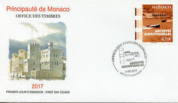 Monaco 2017 FDC Audiovisual Archives 1v Set Cover Film Cinema Boats Stamps - Ohne Zuordnung