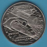 GIBRALTAR 2.8 ECUs 1993 Elizabeth II Euro Tunnel TRAIN - Gibraltar