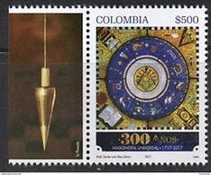 103 COLOMBIE 2017 - 300 Ans Le Plomb - Masonic Franc Maconnerie Freemasonry Freimaurerei, Neuf ** (MNH) - Franc-Maçonnerie