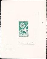 France N°1306 Le Mont Dore épreuve D'artiste En Vert Signée Qualité: Cote: - Artist Proofs