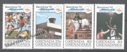 Grenada Grenadines 1990 Yvert 1148-51, Prelude Of The Olympic Games Barcelona 92 - MNH - Grenada (1974-...)