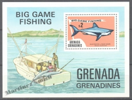 Grenada Grenadines 1975 Yvert BF 7, Big Game Fishing - Mako Shark - MNH - Grenada (1974-...)