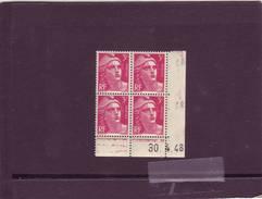 N° 806 - 3F Marianne De GANDON - B De A+B - 1° Tirage Du 26.4 Au 8.5.48 - 30.04.1948 - - Coins Datés