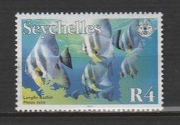 "SEYCHELLES ,N°886 ""PLATAX  TEIRA"" - Fische"