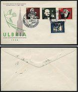 A4896) Bund Sonderbrief Mi.243-246 Stempel Ulm 30.11.58 - Briefe U. Dokumente
